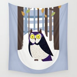 Owl in the Forest Wall Tapestry