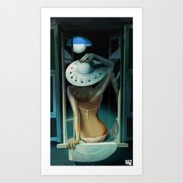 Moon Tanning Art Print