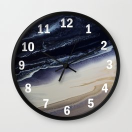 Marble in Blue and Ivories Wall Clock