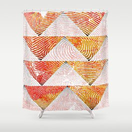Triangle fingerprint design Shower Curtain