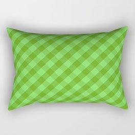 Green plaid Rectangular Pillow