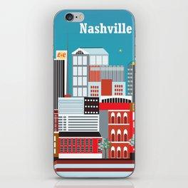 Nashville, Tennessee - Skyline Illustration by Loose Petals iPhone Skin