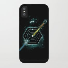Space and Time Fragmentation Ship iPhone Case