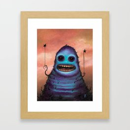 "The Camera Man Said ""Smile"" Framed Art Print"
