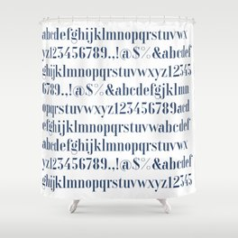 Bauhaus Joschmi Xants Font Shower Curtain