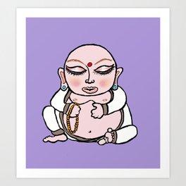Little Round Buddha Art Print