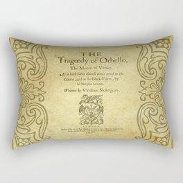 Shakespeare. Othello, 1622. Rectangular Pillow