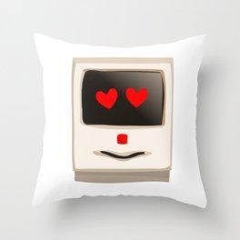 Love Face Beige Computer Throw Pillow