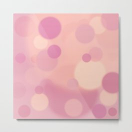Blush Bokeh Metal Print