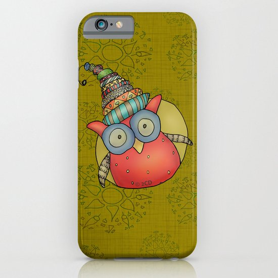 Puki Owl - mustard iPhone & iPod Case