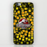 jurassic park iPhone & iPod Skins featuring JURASSIC PARK by BeautyArtGalery