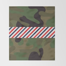 Barber Camo Pattern Throw Blanket