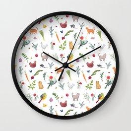 Farmstand Pattern Wall Clock