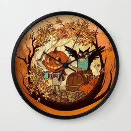 Fall Folklore Wall Clock