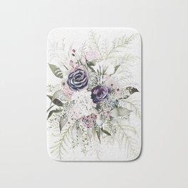 Purple Bouquet Bath Mat