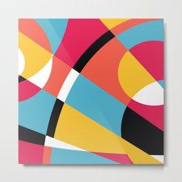 Bright Shapes Abstract Metal Print