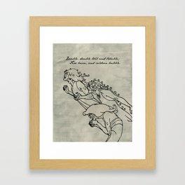 Shakespeare - MacBeth - Weird Sisters Framed Art Print