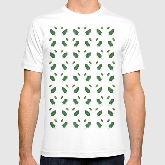 leaf pattern T-shirt