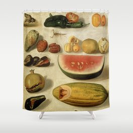 Still Life with Fruit (with Scorpion and Frog) Shower Curtain