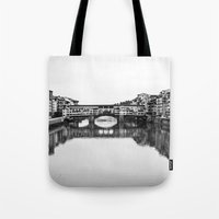 florence Tote Bags featuring FLORENCE by Sara_photographer