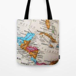 Map Art Tote Bag