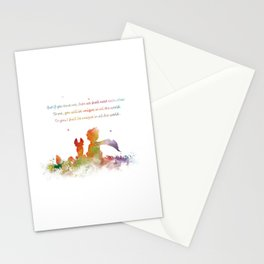 Little Prince Fox Stationery Cards