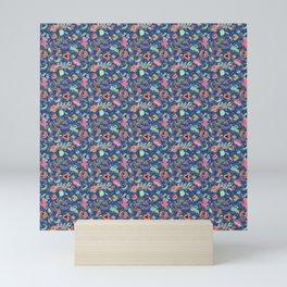 Batik Kebaya Blue SQ Mini Art Print