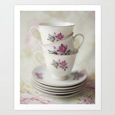 tea leaves tea loves loves tea lives tea leaves tea? never. Art Print