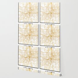 ATLANTA GEORGIA CITY STREET MAP ART Wallpaper