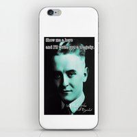 fitzgerald iPhone & iPod Skins featuring Francis Scott Fitzgerald by Guido prussia