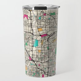 Colorful City Maps: Anaheim, California Travel Mug
