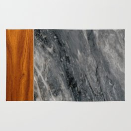 Marble and Wood 3 Rug