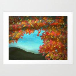 Fall Evening Sky Art Art Print