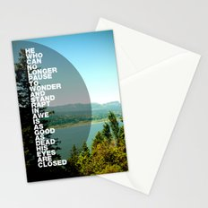 Stand Rapt in Awe Stationery Cards