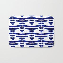 Shibori bridge tie dye watercolor Bath Mat