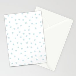 Baby blue stars seamless pattern Stationery Cards