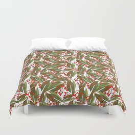 Flowering Gum - White Duvet Cover