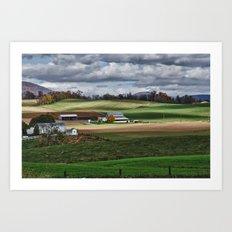 Fall Winds Arrive at the Farm Art Print