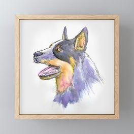 Hand Rendered Dog Framed Mini Art Print
