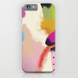 la vie en rose  art abstract minimal iPhone Case