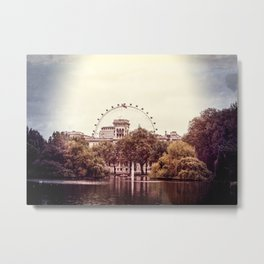 Whitehall & the London Eye from St James's Park Metal Print