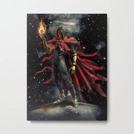 Epic Vincent Valentine Final Fantasy Painting Portrait Metal Print