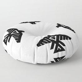 Thunderbird flag - Authentic Hi Def Floor Pillow