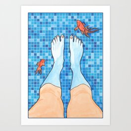 I'm not going into the deep end. Art Print