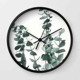 Eucalyptus Leaves Wall Clock