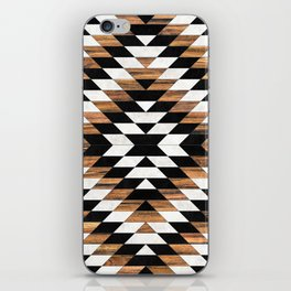 Urban Tribal Pattern No.13 - Aztec - Concrete and Wood iPhone Skin