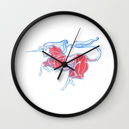 Cross-Section of a Unicorn (No Background Ver.) Wall Clock