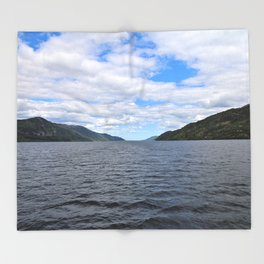 The Great Loch Ness Throw Blanket