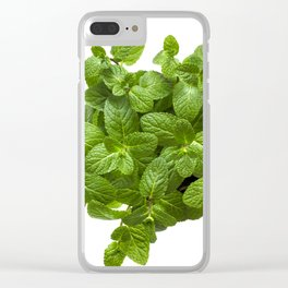 Fragrant mint Clear iPhone Case