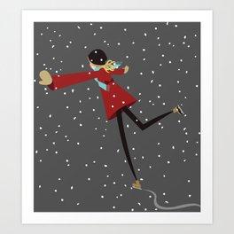 Ice Skate girl Art Print